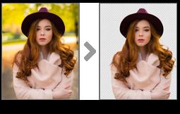 背景や髪の毛など細部まで切り抜き!AIによるクリッピング自動処理